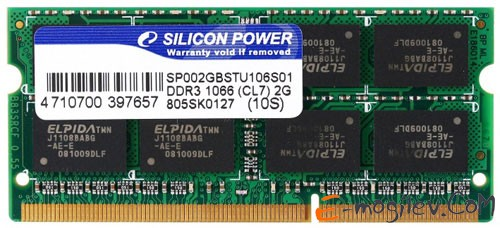 Silicon Power DDR3-1333 2048 Mb PC-10660 SP002GBSTU133V02 SODIMM