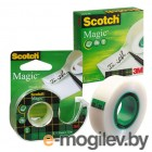 Клейкая лента канцелярская 3M Scotch Magic 19мм*33м, прозрачная невидимая