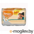 PAMPERS Naturally Clean Duo 2X64 шт