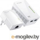 TP-Link Адаптер Powerline Ethernet + WiFi  300Мбит/с  TL-WPA2220KIT, 200 Мбит/с, Fast Ethernet