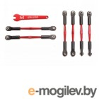 Turnbuckles, aluminum (red-anodized), camber links, 58mm (4)/ front toe links, 61mm (2) (assembled w