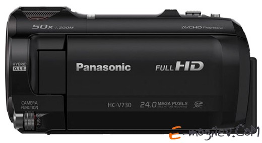 Panasonic HC-V730 black 1CMOS 20x IS opt 3 1080p SDHC Flash Flash