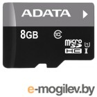 A-Data microSDHC 8Gb Class10 AUSDH8GUICL10-RA1 +adapter Ultra speed