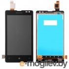 дисплей в сборе с тачскрином для Nokia Lumia 435, черный