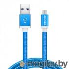 A-DATA microUSB-USB для зарядки и синхронизации 1м, металлический, Blue