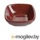 Салатник керамический, 120 мм, квадратный, серия Анкара, шоколад, PERFECTO LINEA (18-814604)