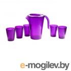 Набор для напитков fresh, баклажан, BEROSSI (Изделие из пластмассы. Литраж 1.8 литра и 0.25 литра) (ИК18052000)