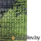 Flora Leo черный/зеленый 200х290