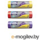 Пакеты для мусора 35л/15шт c затяжкой NV Plus (Материал / Цвет: LDPE / Фиолетовый . Размер единицы: 50 x 55 см.Толщина: 18 мкм) (0403NVP) (NOVAX)