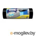 Пакеты для мусора 90л/20шт NV Plus (Материал / Цвет: LDPE / Чёрный . Размер единицы: 70 x 94 см.Толщина: 24 мкм) (0380NVP) (NOVAX)