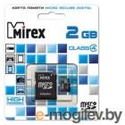 Карта памяти Mirex microSDHC Class 4 2GB (13613-ADTMSD02)