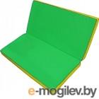 Гимнастический мат No Brand Складной 1x1x0.1м зеленый/желтый