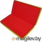 Гимнастический мат No Brand Складной 1x1x0.1м красный/желтый