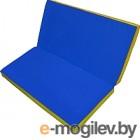 Гимнастический мат No Brand Складной 1x1x0.1м синий/желтый