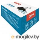 Зажимы Buro 065000201 металл 19мм черный (упак.:12шт) картонная коробка