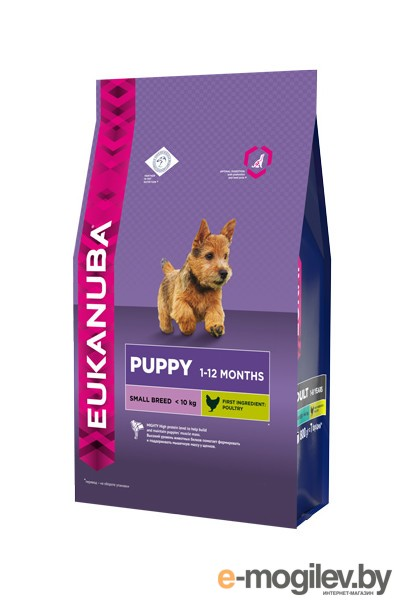 Eukanuba Small Breed Adult 3kg для собак 10137706 01087 / 2422