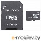 Карта памяти QUMO QM32GMICSDHC10U1 (microSDHC, UHS-1, 32GB)