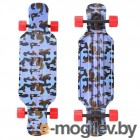 Y-SCOO Longboard Shark Tir 31 Blue Army Blue-Red 408-Ba