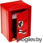 Эврика Сейф с ключом Red 91647