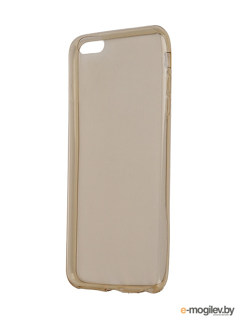 Чехол Krutoff для iPhone 6 Plus Transparent-Gold 10677