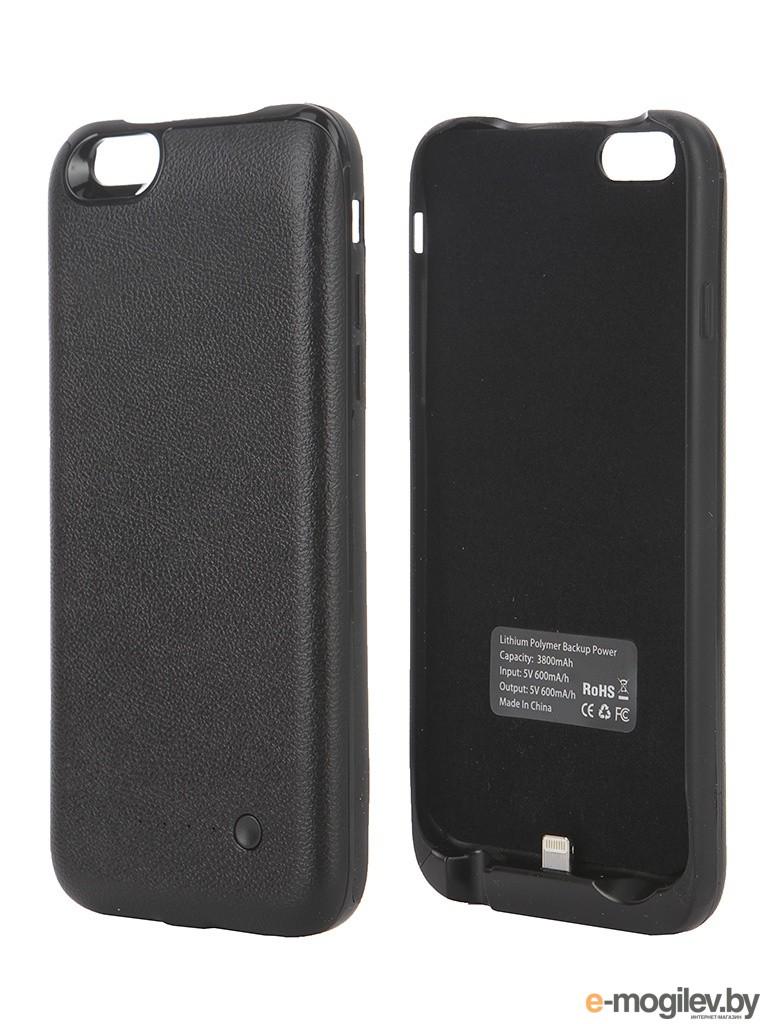 Чехол-аккумулятор Krutoff X4 3800 mAh для iPhone 6 Black 48186