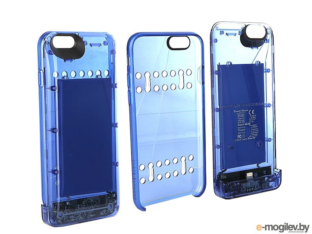 Чехол-аккумулятор Boostcase 2700 mAh для iPhone 6 / 6S Transparent Blue BCH2700IP6-SPH