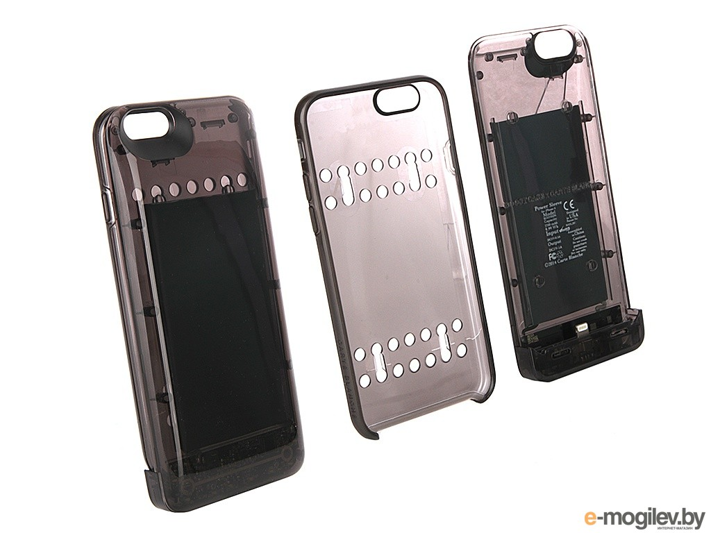 Чехол-аккумулятор Boostcase 2700 mAh для iPhone 6 / 6S Transparent Black BCH2700IP6-ONX