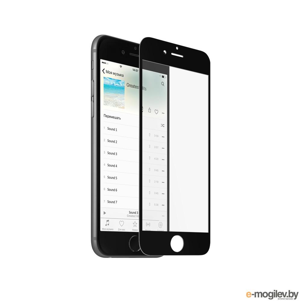 Закаленное стекло DF iColor-05 для iPhone 6 Plus / 6S Plus Black