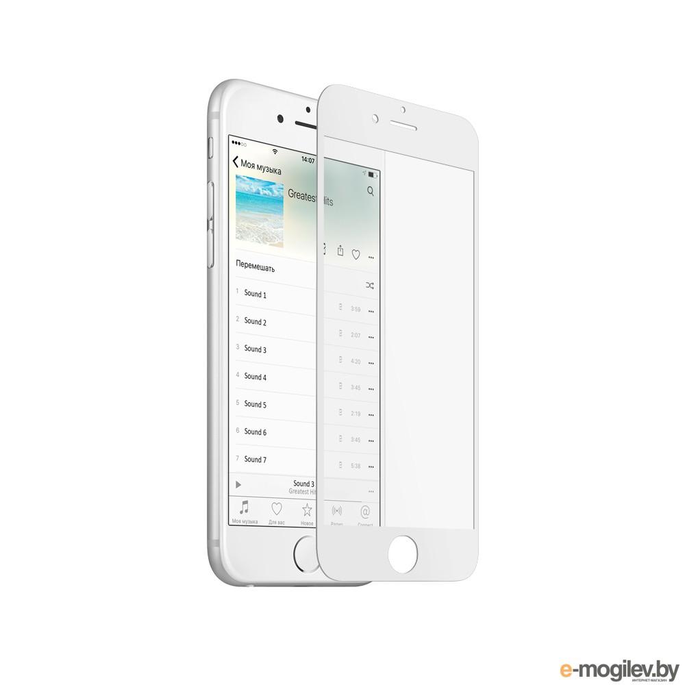 Закаленное стекло DF iColor-05 для iPhone 6 Plus / 6S Plus White