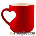 Эврика Кружка хамелеон Сердце Red 95339