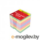 Блок для записей в пласт.подставке, 90х90х90мм, 5 цветов