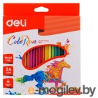 Deli EC00120 трехгранные пластик 24цв. коробка/европод.