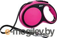 Поводок-рулетка Flexi New Comfort L 5m ремень розовый