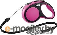 Поводок-рулетка Flexi New Comfort M 5m трос розовый