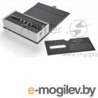 Ручка 5й пишущий узел Parker Ingenuity L F501 (1931463) Black Rubber/Metal CT F черные чернила подар.кор.
