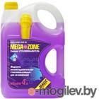 Жидкость стеклоомывающая MegaZone Magic зимний -24 4л, фиолетовый