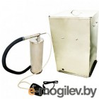 Коптильня  бытовая  холодного копчения  Дым Дымыч   модель 02Б - дымогенератор+емкость для копчения большая объемом 50 л, нержавеющая сталь