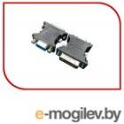 Переходник DVI-VGA Cablexpert A-DVI-VGA-BK, 29M/15F, черный, пакет