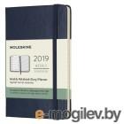 Еженедельник Moleskine CLASSIC WKNT POCKET 90x140мм 144стр. фиксирующая резинка синий сапфир
