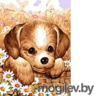 Картина по номерам Picasso Щенок в лукошке (PC3040008)