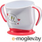 Кружка детская Happy Baby Baby Cup With Suction Base 15022 (красный, на присоске)