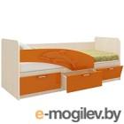 Односпальная кровать Олмеко Дельфин 06.223 оранжевый