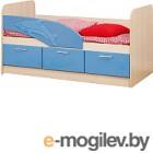 Односпальная кровать Олмеко Дельфин 06.223 голубой