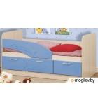 Односпальная кровать Олмеко Дельфин 06.222 голубой