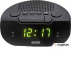 Mystery MCR-21 черный LCD подсв:зеленая часы:цифровые FM