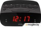 Mystery MCR-23 черный LCD подсв:красная часы:цифровые FM