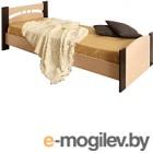 Односпальная кровать Олмеко 900 венге/дуб линдберг