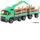 Лесовоз игрушечный Полесье Лесовоз с прицепом Volvo / 8725 (в сеточке)