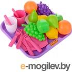 Набор продуктов Полесье №2 с посудкой и подносом (21 элемент) (в сеточке) 46970