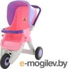 Коляска для куклы Полесье Прогулочная 3 колеса / 48127 (розовый/фиолетовый)